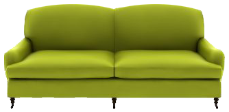Green sofa PNG Transparent image - Sofa PNG