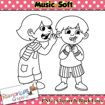soft sound clipart black and white 4 - Soft Sound PNG Black And White
