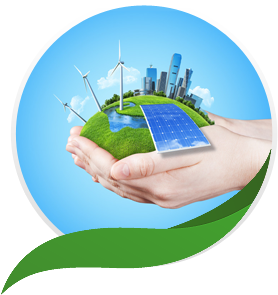 Image showing person holding a renewable energy world in his hands - Solar Energy PNG