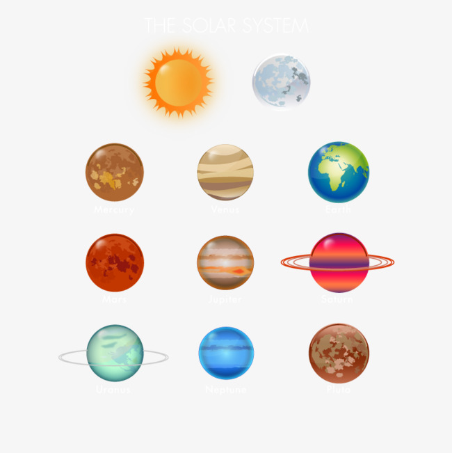 Nine planets, Hd, Vector, Solar System PNG and Vector - Solar System PNG HD