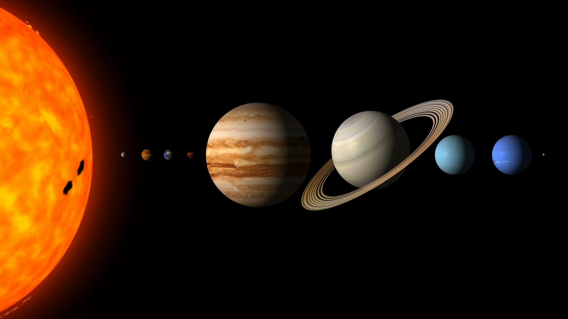 The Planets Of The Solar System By Order Motion Background - VideoBlocks - Solar System PNG HD