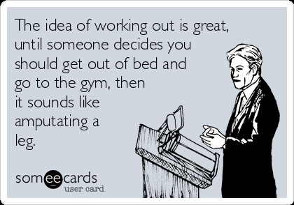 The idea of working out is great, until someone decides you should get out  of - Someone Getting Out Of Bed PNG