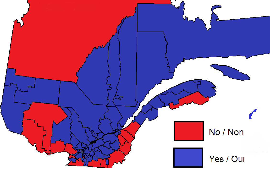 File:Quebec national sovereignty referendum result by provincial, 1995.png - Sovereignty PNG