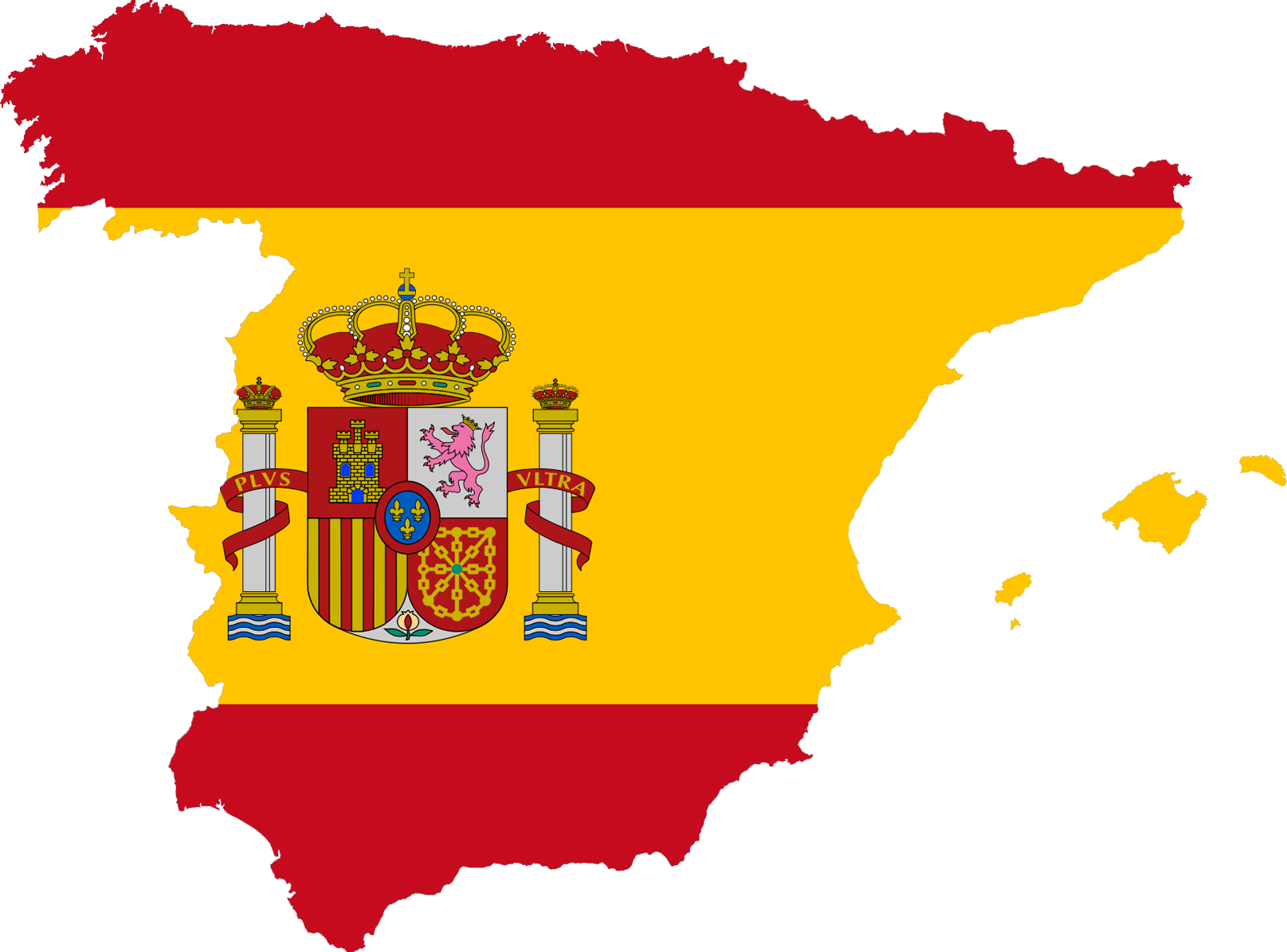 File:Spain-flag-map-plus-ultra.png - Spanish Culture PNG