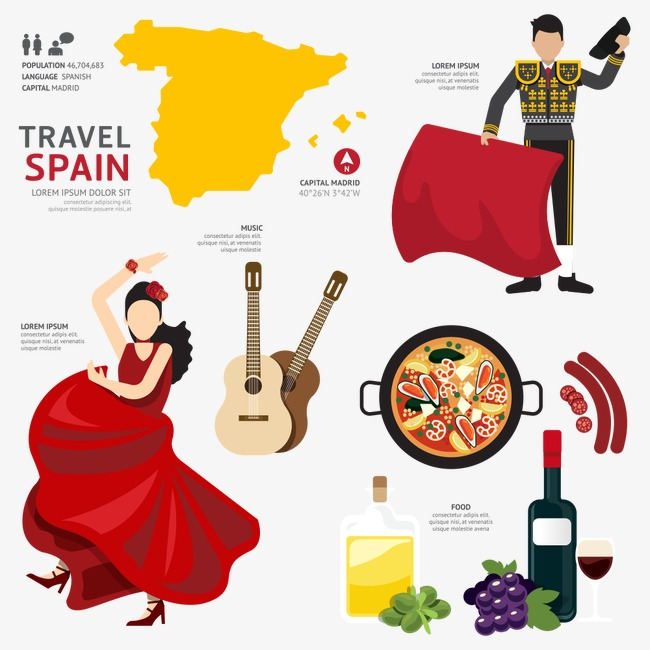 Spanish Culture, National Characteristics, Tour Of Spain Free PNG Image - Spanish Culture PNG