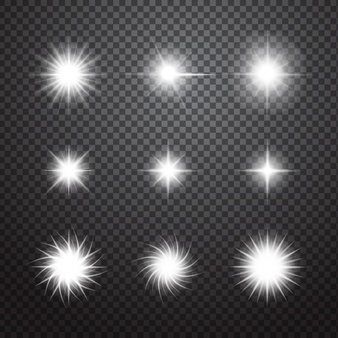 Decorative sparkles set - Sparkle PNG
