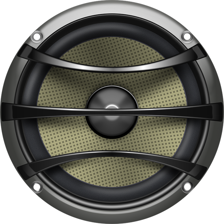 Speaker, Loudspeaker, Audio, Electronics, Grey, Metal - Speaker HD PNG
