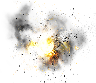 24 Different High Quality Explosion Effects. - Special Effects PNG