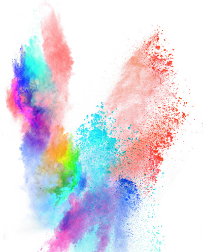 . PlusPng.com special effect multi colored powder - Special Effects PNG