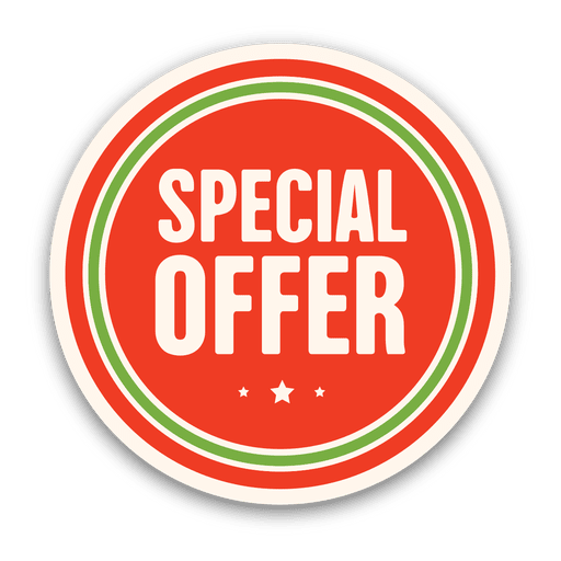 Red special offer badge Transparent PNG - Special Offer PNG