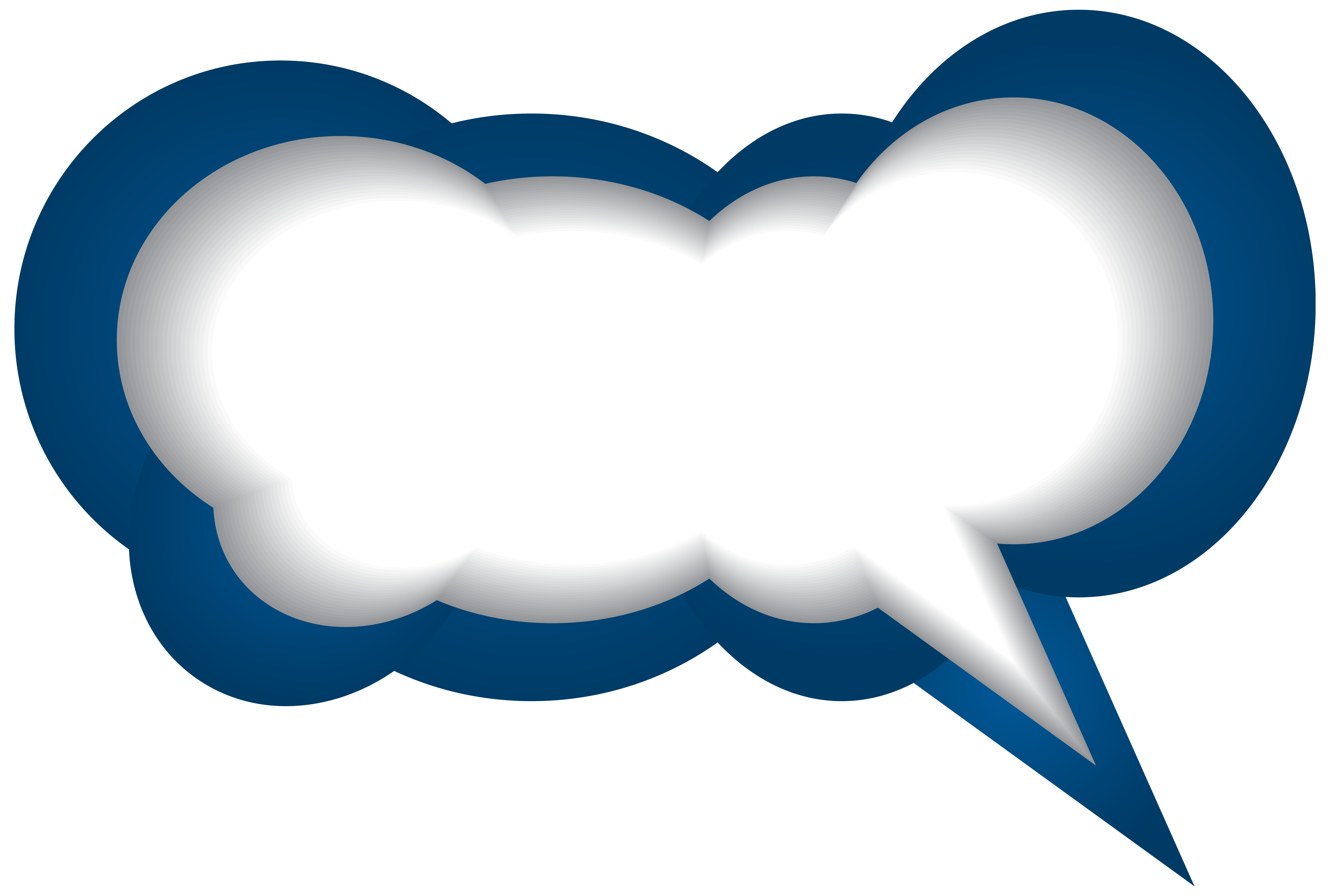 Speech Bubble Blue White PNG Clip Art Image | Gallery Yopriceville -  High-Quality - Speech Bubble PNG HD