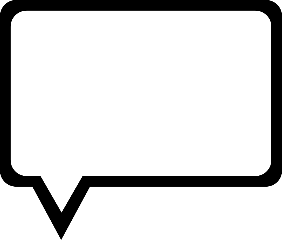 Speech Bubble Outline Of Rectangular Shape Comments - Speech Bubble PNG HD