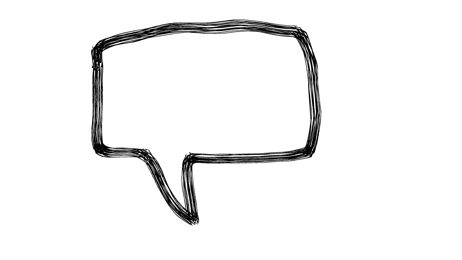 Speech Bubble Scribble Animation Doodle Cartoon 4K Stock Video Footage -  VideoBlocks - Speech Bubble PNG HD