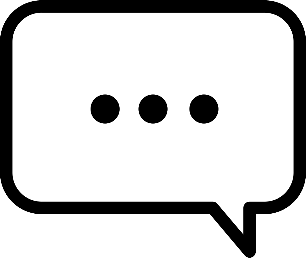 Three Dots Speech Bubble Comments - Speech Bubble PNG HD