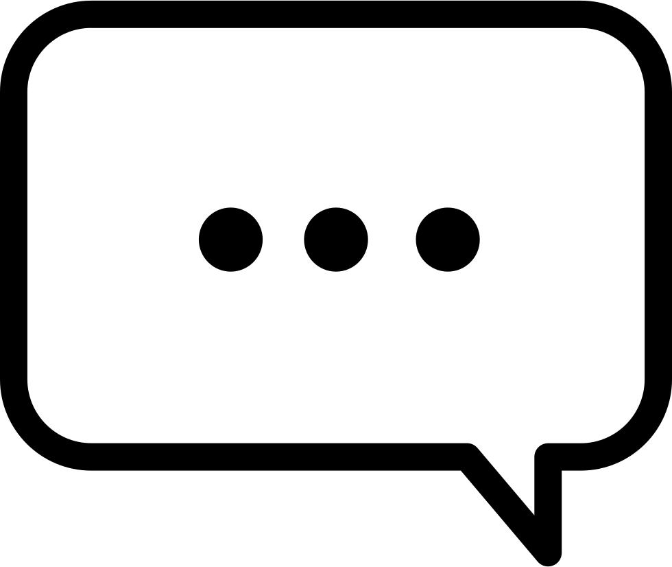 Three Dots Speech Bubble Comments - Speech Bubble PNG HD