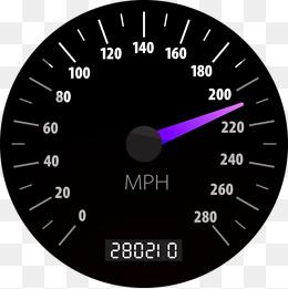 Car speedometer, Speedometer, Mph, Black Speedometer PNG Image - Speedometer HD PNG