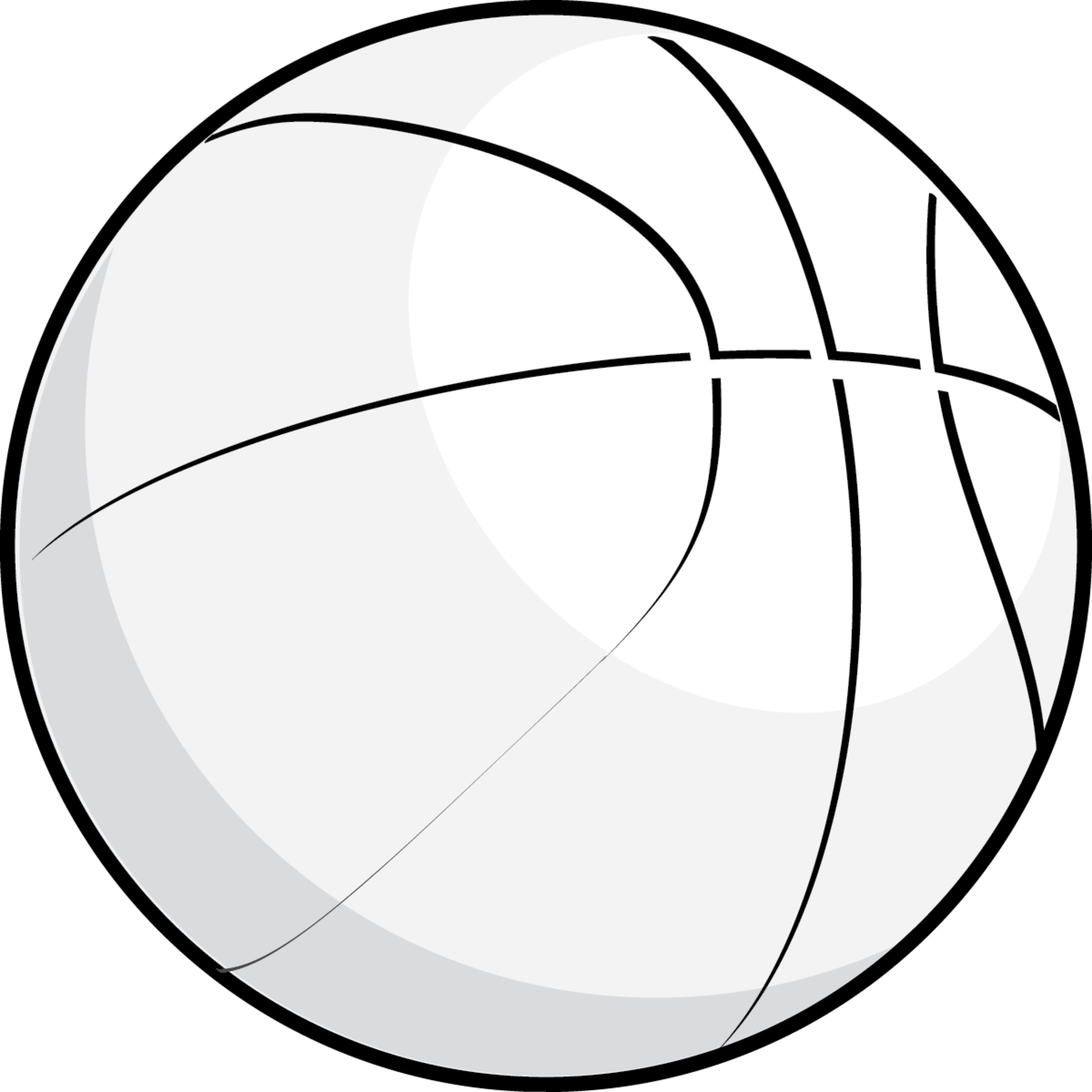 Basketball black and white house clipart black and white 6 - Sphere PNG Black And White