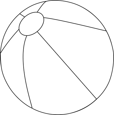 Black and White Beach Ball - Sphere PNG Black And White
