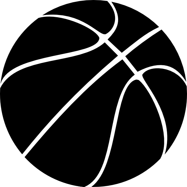 Black basketball ball PNG image - Sphere PNG Black And White