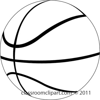 Clipart Black And White Basketball Clipart Black And White Jpg - Sphere PNG Black And White