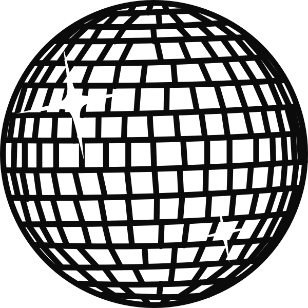 Download this image as: - Sphere PNG Black And White