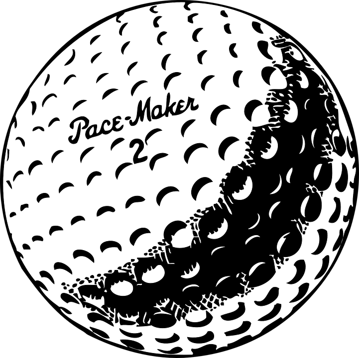 Golf, Ball, White, Recreation, Shot, Golfer, Hobby - Sphere PNG Black And White