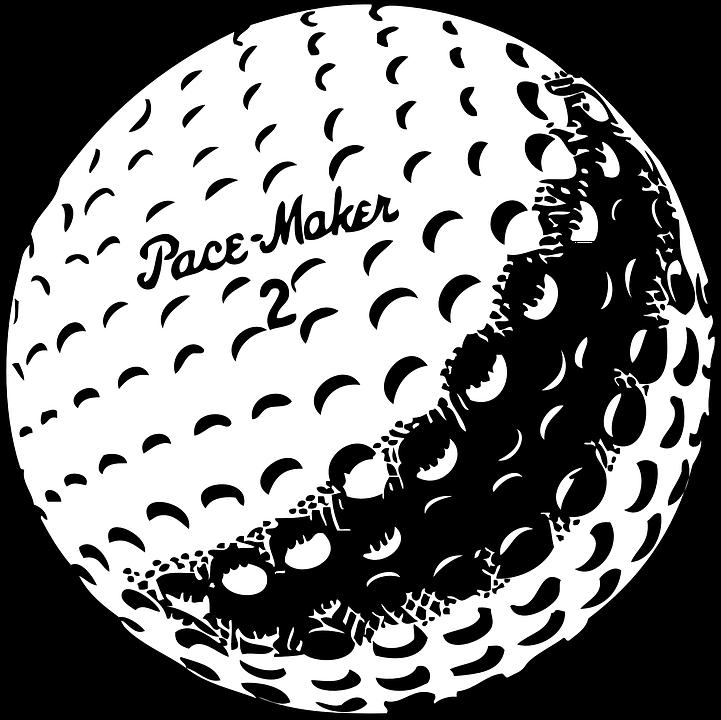 Golf, Ball, White, Recreation, Shot, Golfer, Hobby - Sphere PNG Black And White
