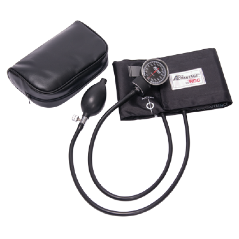Deluxe Aneroid Sphygmomanometer Adult Black - Sphygmomanometer PNG