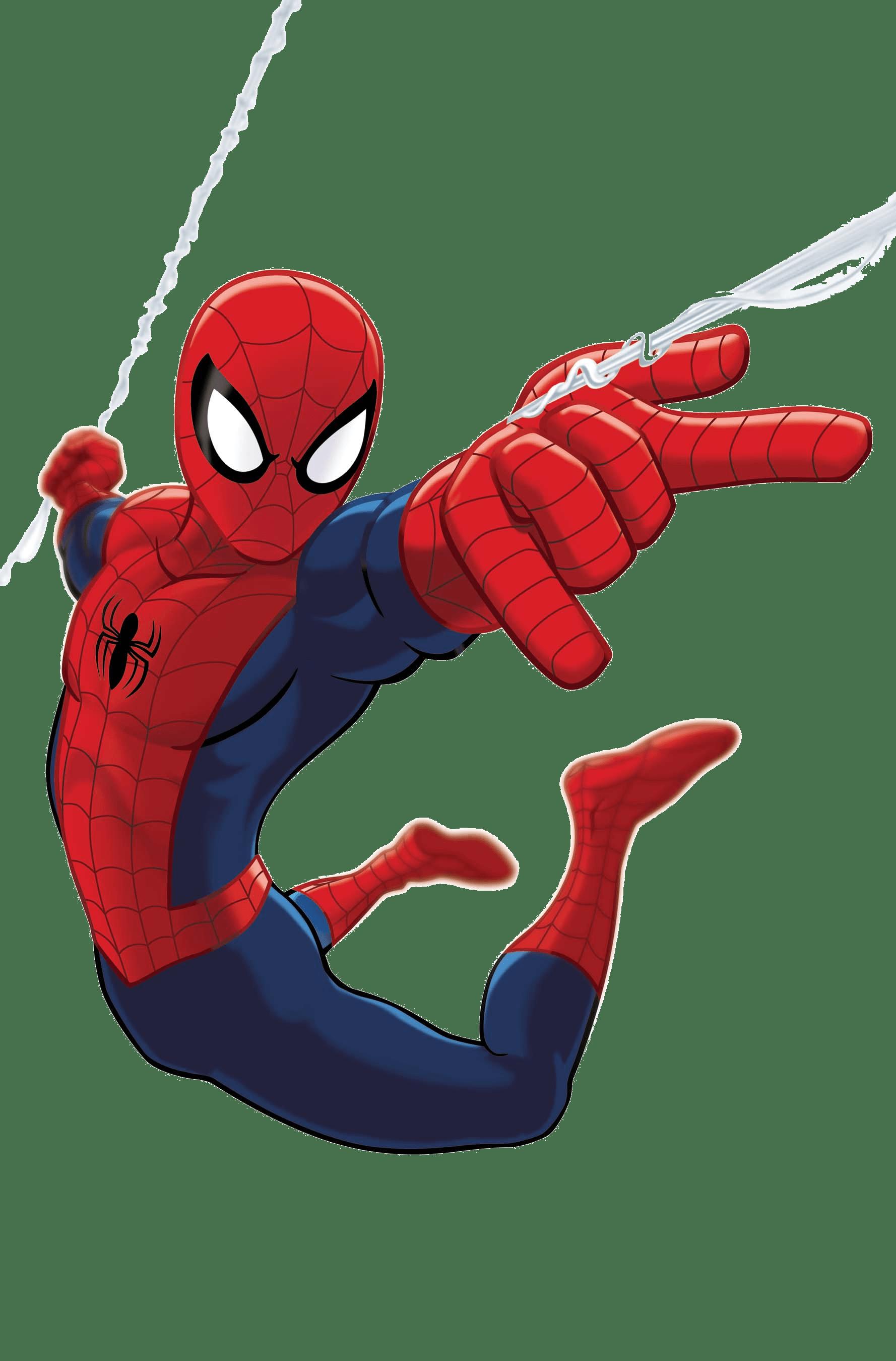 Spiderman Flying Between Buildings - Spider-Man PNG