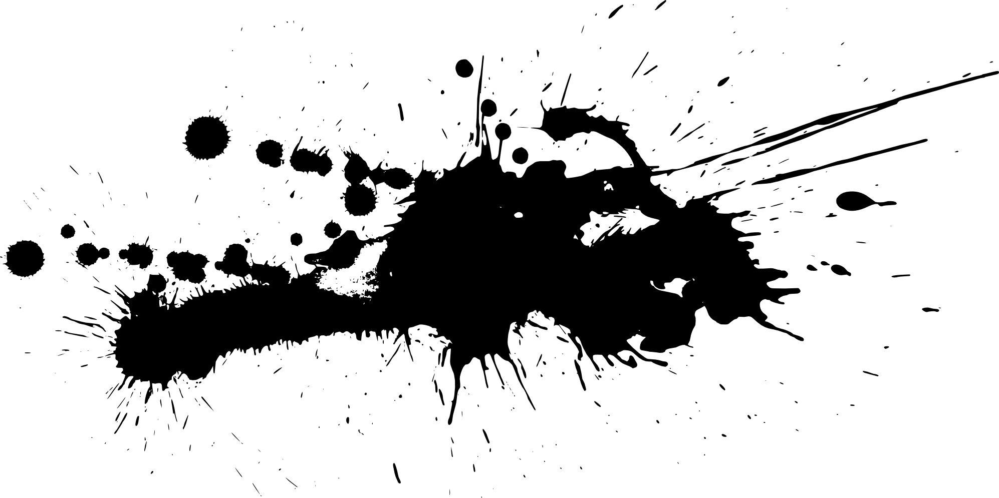 Black Paint Splatter Png imag