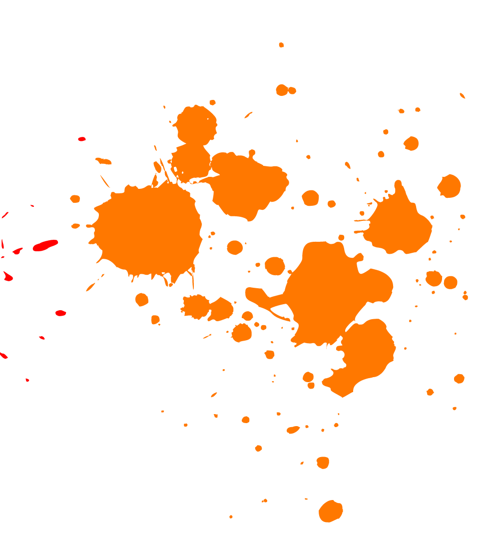 Orange Paint Splatter - Splatter PNG