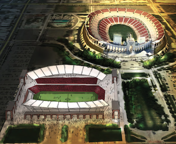 A very preliminary concept drawing of what the soccer stadium may look like. - Sports Arena PNG