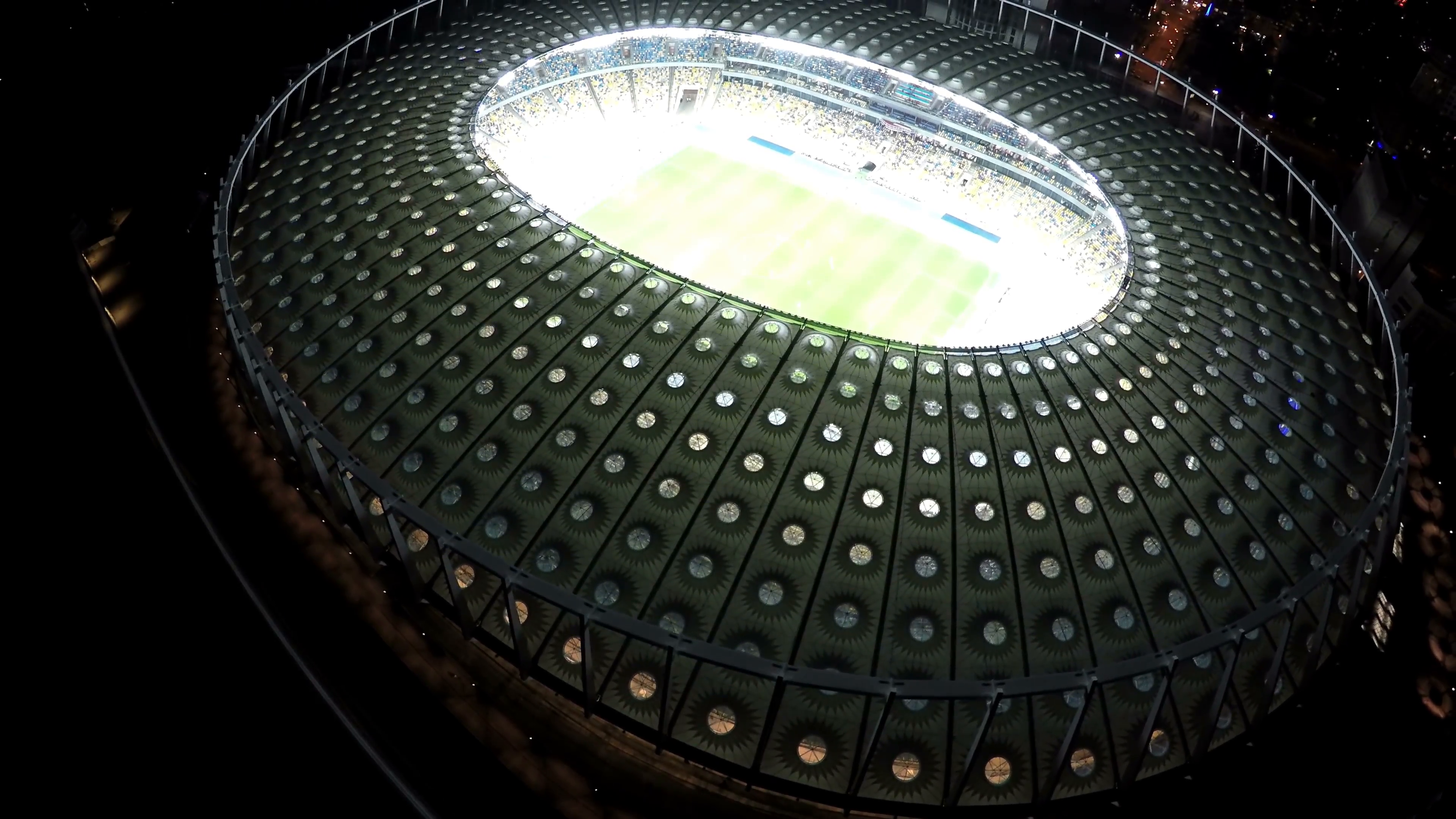 Football match at modern sports arena, night time illumination, view from  above Stock Video Footage - VideoBlocks - Sports Arena PNG
