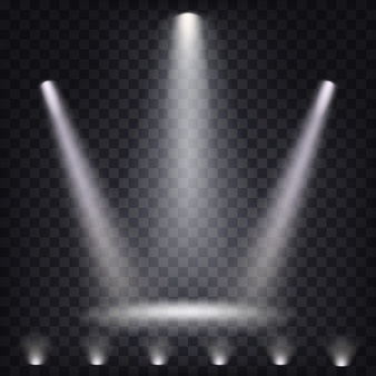 Set of vector scenic spotlights - Spotlight PNG HD Free