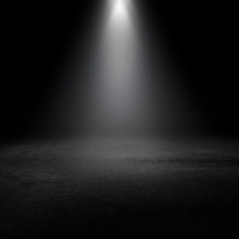 Spotlight shining down into a grunge interior - Spotlight PNG HD Free