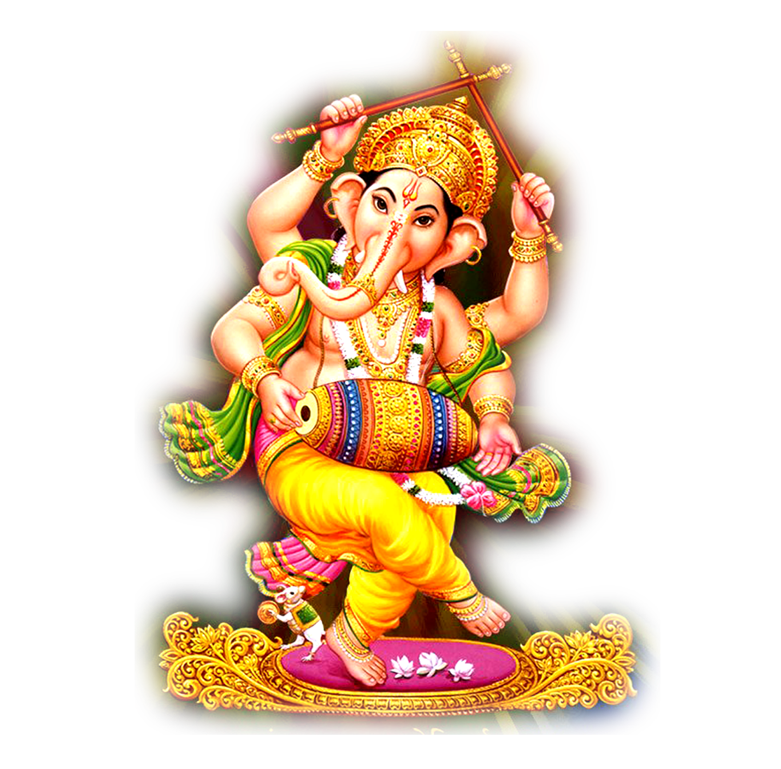 Lord Ganesha Outline Vector F