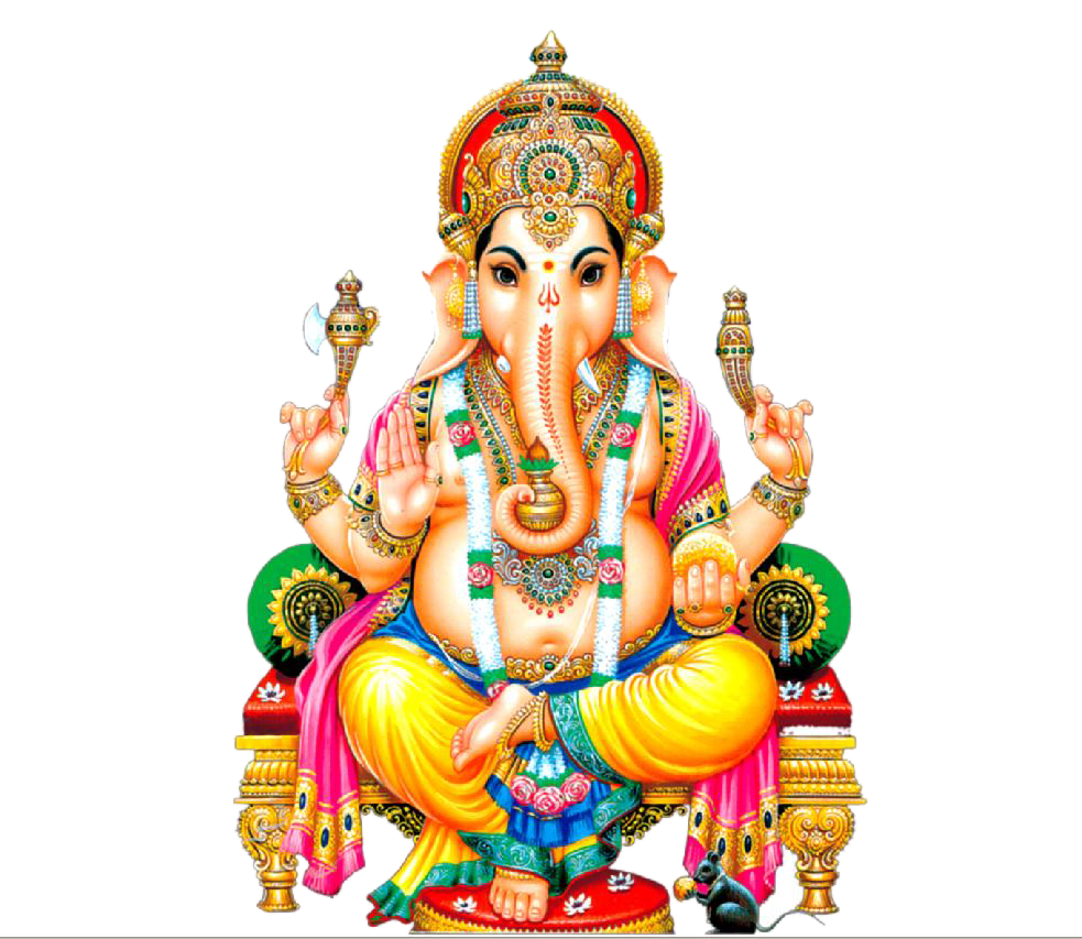 Lord Ganesha Png Picture With Transparent Background_12. Resolution: 983 X  853. Size : 0.829 MB Format: PNG - Sri Ganesh HD PNG