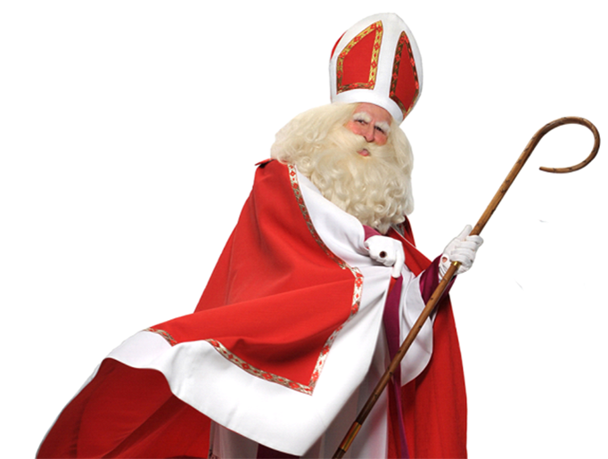 Father Joseph Marquis in one of his portrayals of St. Nicholas and Santa - St Nicolas HD PNG