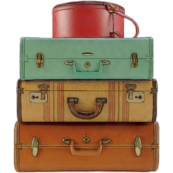 Stacked Luggage PNG - 44121