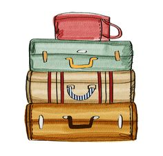 Stacked Luggage PNG - 44132