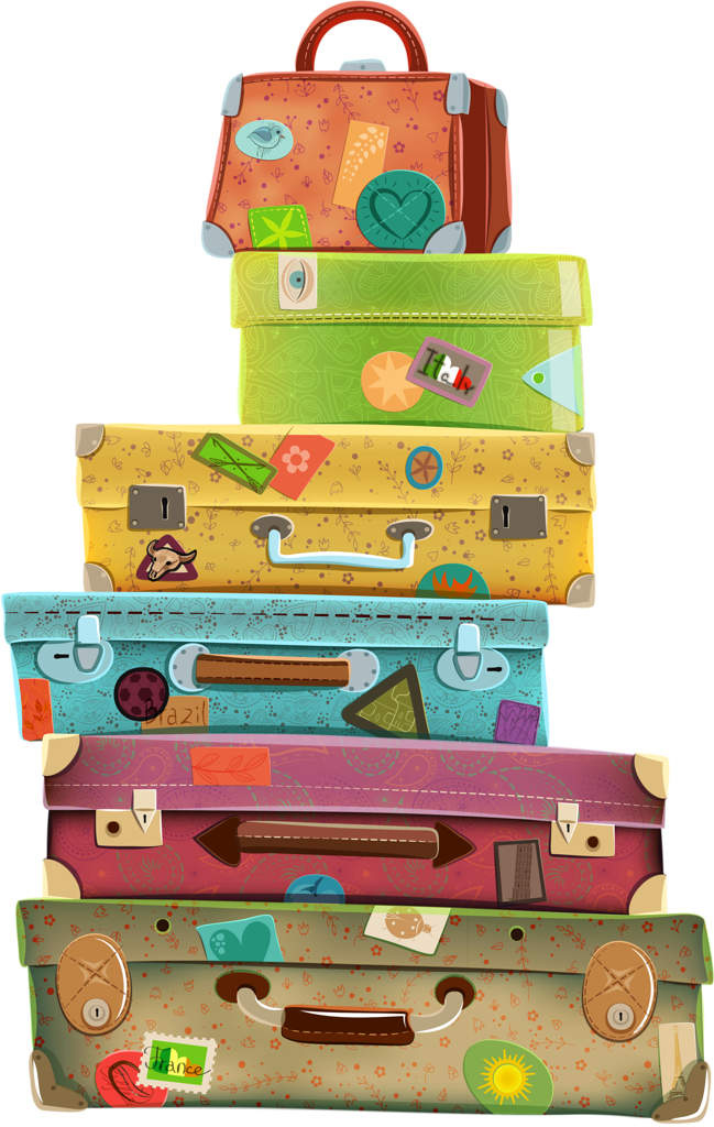Stacked Luggage PNG - 44120