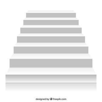 White stairs - Stairs PNG HD
