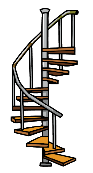 Image - Spiral Stairs.png | Scribblenauts Wiki | FANDOM powered by Wikia - Stairs PNG
