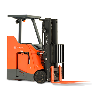 3-Wheel Electric Toyota Forklift - Stand Up Forklift PNG