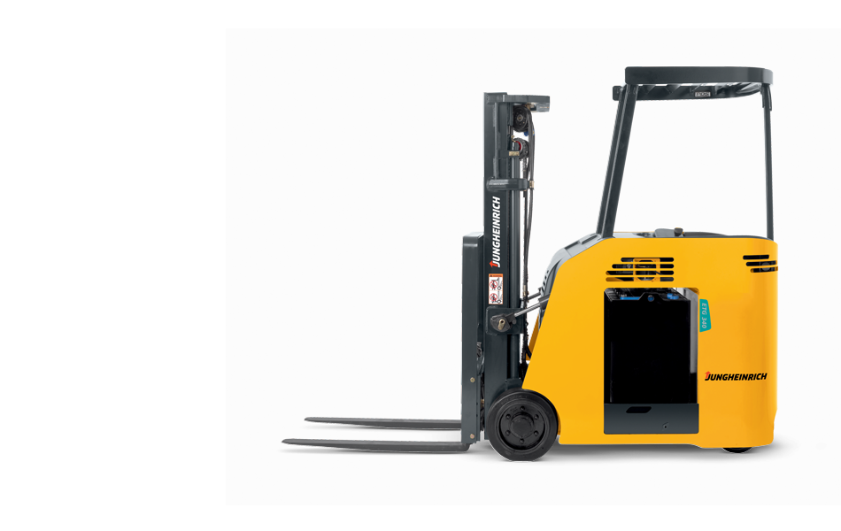 Jungheinrich ETG230 profile view - Stand Up Forklift PNG