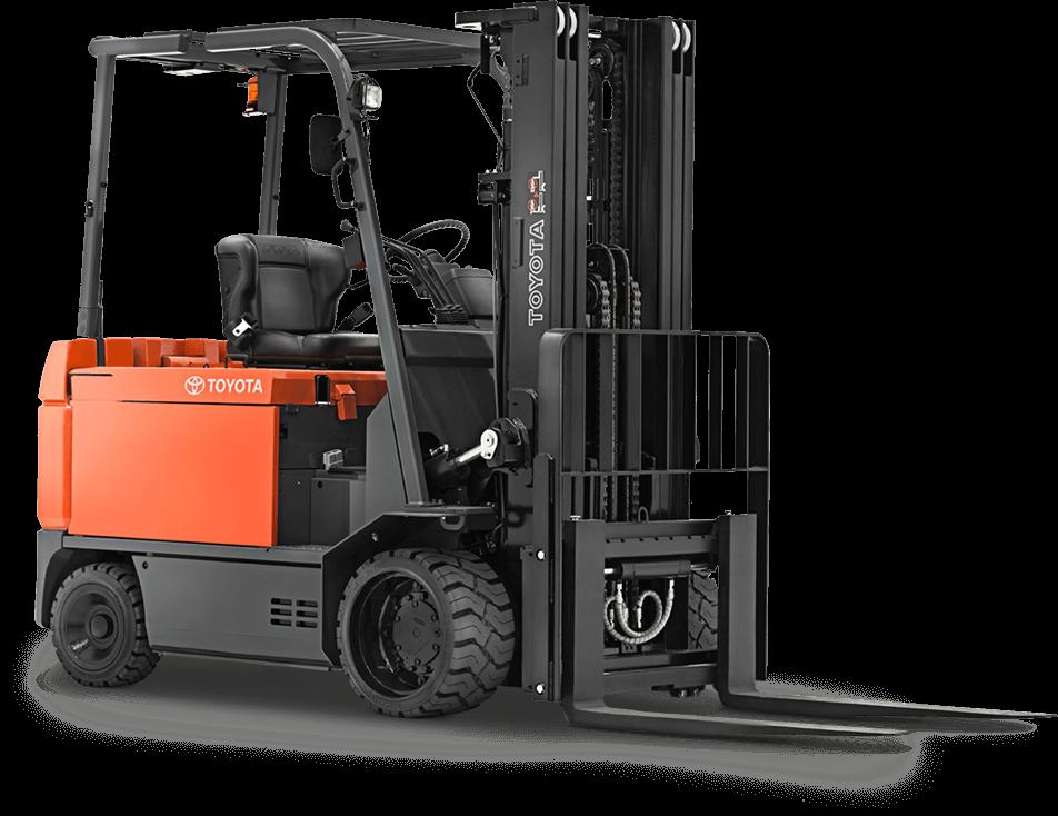 Large Electric Forklift - Stand Up Forklift PNG