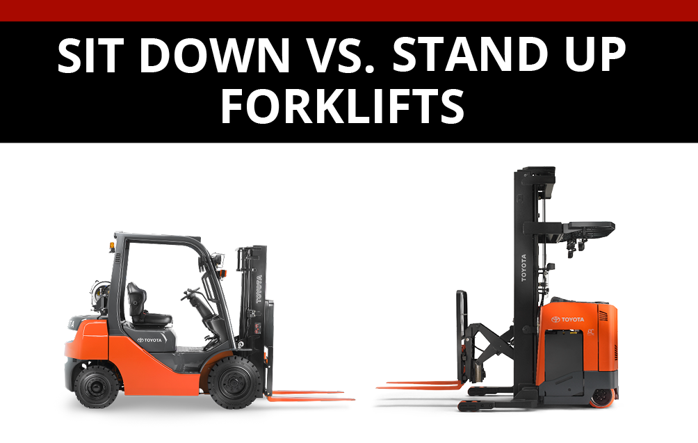 Sit Down VS Stand Up Forklifts u2013 which is best? - Stand Up Forklift PNG