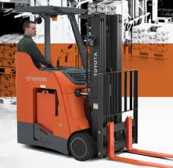 Toyota 8-Series Electric Stand-Up Rider Forklift - Stand Up Forklift PNG