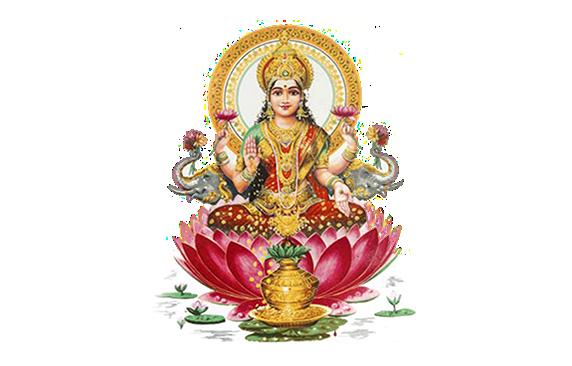 goddess lakshmi PUJA - Standing Laxmi PNG