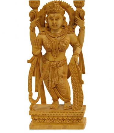 Goddess Lakshmi Standing Idol - Standing Laxmi PNG